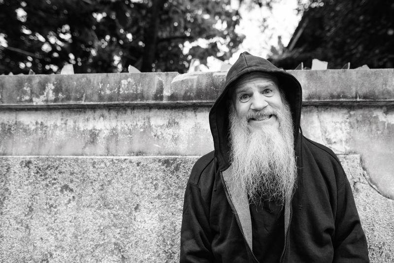 Portrait of man standing outdoors