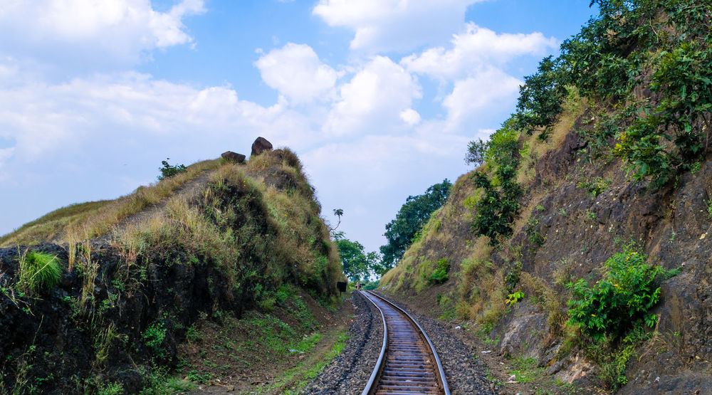 Cliff Exploring Geology Indore Landscape Leading Madhya-Pradesh Nature Non-urban Scene Outdoors Patalpani Physical Geography Remote Rock Rock - Object Rock Formation Scenics Stone Train Tracks Tranquil Scene Tranquility Tree Voyage Landscapes With WhiteWall