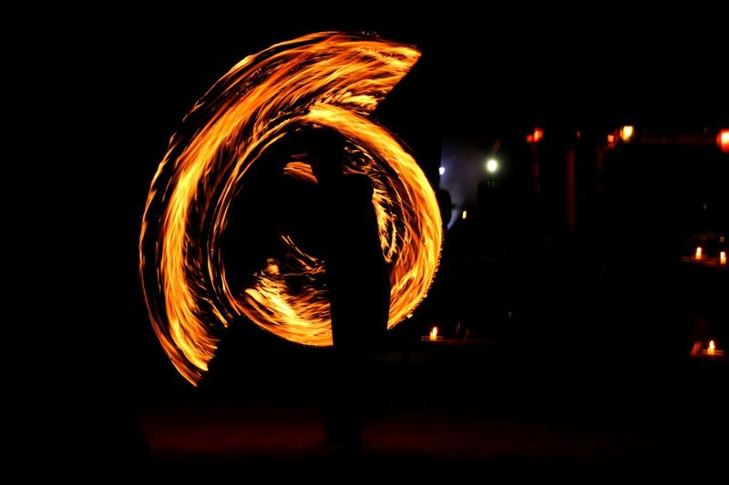Night Circle Illuminated Danger Performance Speed Skill  Fire Dancer INDONESIA