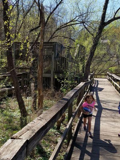 Nature Photography Woodlandwalks Family❤ Glen Hilton Park My Daughter ❤️ Josie ❤ Springtime Running Around Wooden Structure Beautiful Day Beautiful Nature Park - Man Made Space Family Time