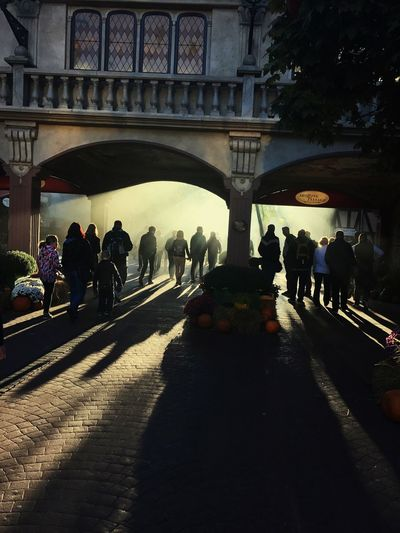 Prehalloween Scary Large Group Of People Shadow Architecture Europapark Rust Built Structure Silhouette Sunlight Travel Destinations Patriciaphotography Sky