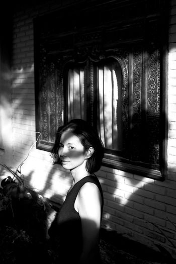 bali mornings Asian Girl B&W Portrait Bali Bali, Indonesia Balinese Architecture Beautiful Nature Beautiful Woman Black & White Chasinglight Indonesia_photography Lifestyles Light And Shadow Looking At Camera Makeportraits Makeportraitsnotwar Monochrome Moody Portrait Natural Light Portrait Nikonphotography One Person People Portrait Real People Young Adult Young Women The Portraitist - 2017 EyeEm Awards
