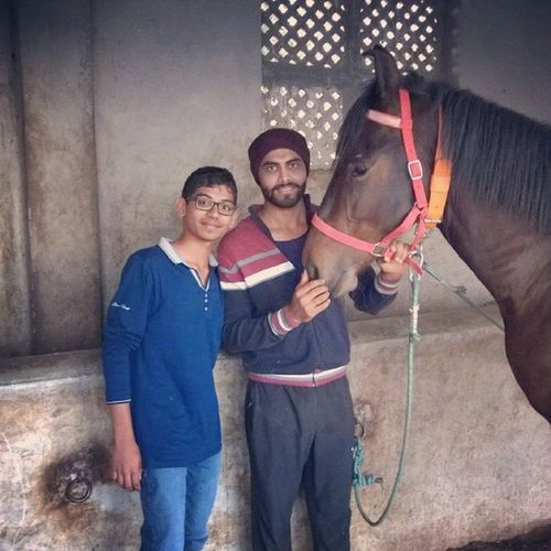 With Ravinder Sinh Jadeja Bapu Cricketer Horse Manek Instamood Instapic Best