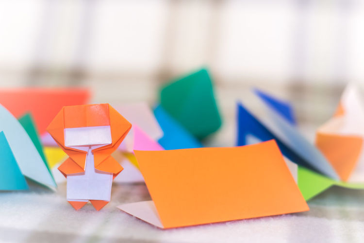Childhood Close-up Colorful Creative Day Focus On Foreground Indoors  Makeing Multi Colored Ninja No People Origami Paper
