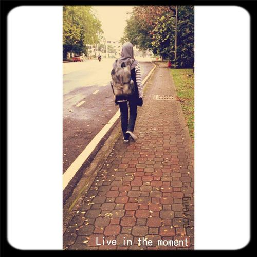 """"""" Put your step on and just go on. Don't look back into your past."""" Afiqahbahari & Poyong First Eyeem Photo"""