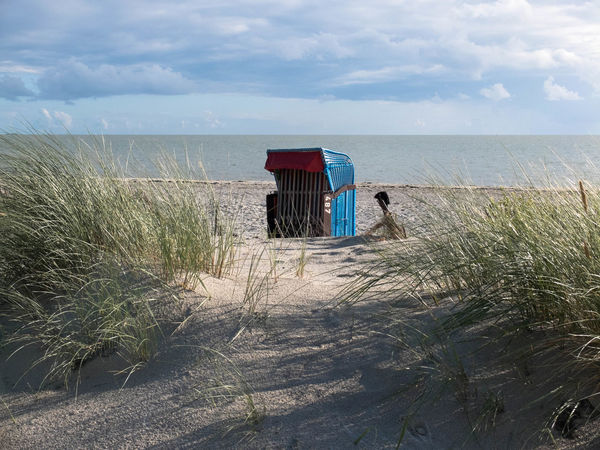 Sea Beach Horizon Over Water Sky Land Horizon Water Grass Beauty In Nature Scenics - Nature Nature Built Structure Architecture Plant Cloud - Sky Day Hut Sand Building Exterior Outdoors Marram Grass