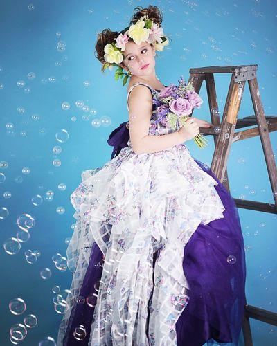 Bubble picnic Ballgown Coutoure  One Person Fashion Standing Portrait Flower Beauty