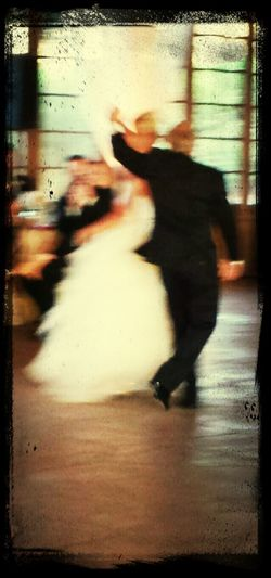 Picture is hopelessly blurry, but I love the body positioning. Father Daughter Dance Kellyandmitchgethitched