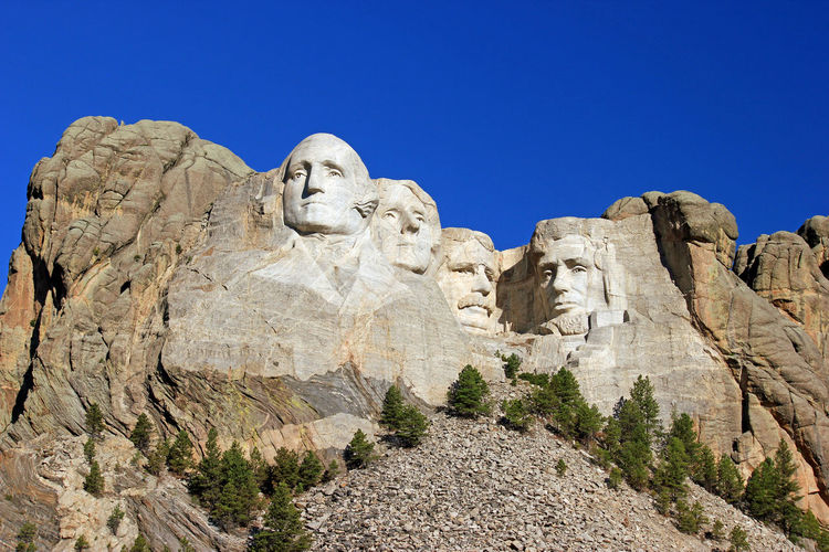 Mt. Rushmore Clear Sky Monument Mt. Rushmore National Landmark Presidents Pretty South Korea Stone Carving