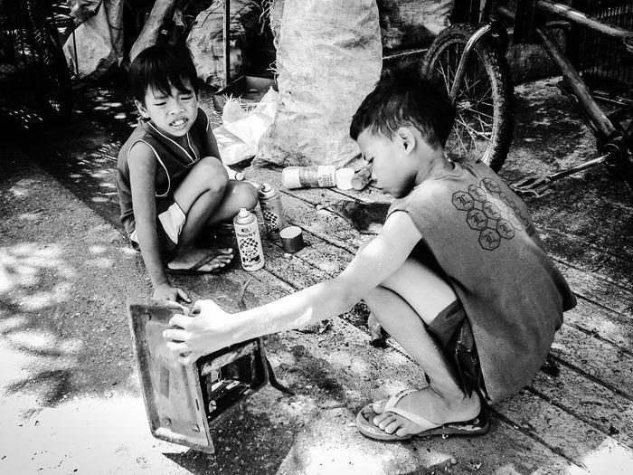"""junkshop boys"" Hands On Mobile Photography Eyeem Philippines Children's Portraits"
