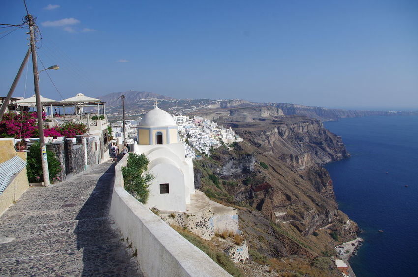 GREECE ♥♥ Griechenland Griechische Inseln Santorini Greece Architecture Building Exterior Built Structure Cliff Day Greece Mountain Nature No People Outdoors Santorini Scenics Sea Sky Water Whitewashed