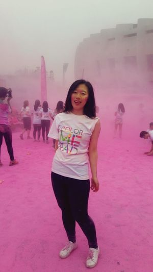Colormerad ColourMeRad Colours Pink Color Pink Powder Running Happytime Seoulolympicpark Colours Of Autumn Her Name Is Autumn