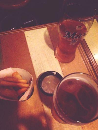 Beer Hanging Out Potato 뭉계랑 둔동 폼프리츠!