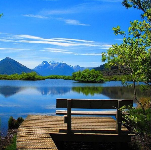 Mountain Nature Water Lake Blue Sky Day Outdoors