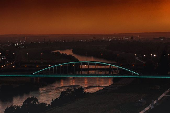 End Of The Day Zagreb Water Architecture Sea Sky Built Structure Night City Cityscape Travel Destinations Illuminated Bridge Sunset No People