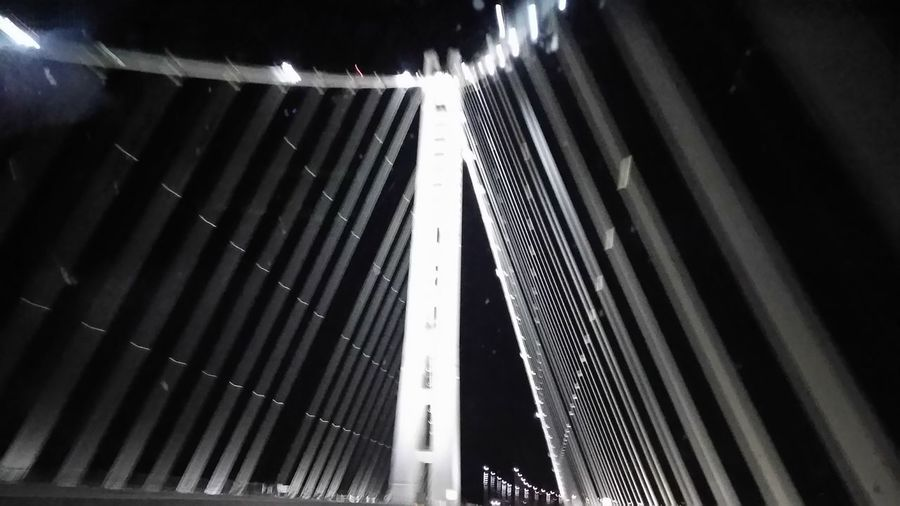 Bridge - Man Made Structure Bay Bridge Eastern Span Blurred Motion Bay Area Norcal Cali Life Smartphonephotography Smartphone Photographer Illuminated From My Point Of View Sanfrancisco