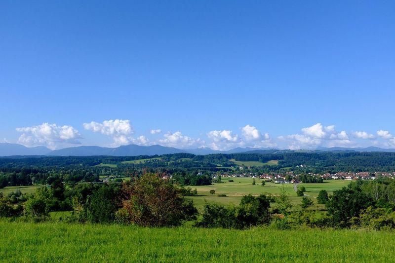 Pfaffenwinkel Bavarian Landscape Oberbayern Plant Sky Environment Scenics - Nature Beauty In Nature Landscape Land Mountain Nature No People