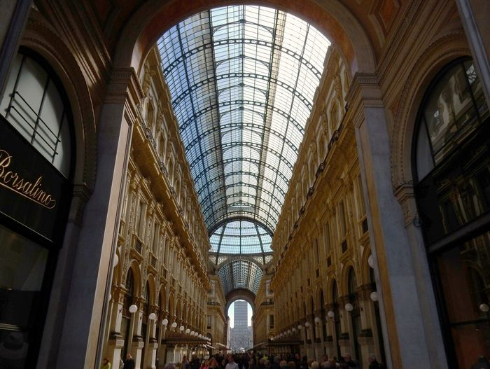 Galleria Arch Architecture Building Built Structure Ceiling Centro Commerciale Copertura Cupola Day Galleria Vittorio Emanuele - Milano Glass - Material History Indoors  Lighting Equipment Low Angle View No People Shopping Mall Skylight Storico The Past Tourism Travel Travel Destinations Window