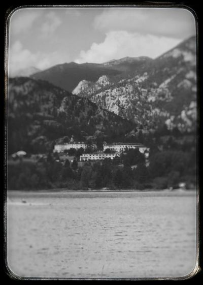 Noir Still The Stanley Hotel Legendary Paranormal Energy Tranquility Beauty In Nature Tranquil Scene Lake No People Outdoors Rural Scene
