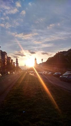 Berlin B Berlin Sunset Built Structure Cloud - Sky No People Sky Sunset Sunset #sun #clouds #skylovers #sky #nature #beautifulinnature #naturalbeauty #photography #landscape
