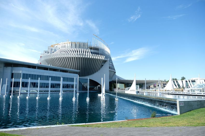 Casino de Montreal, île notre Dame, Gilles Villeneuve, Canada, artphoroview Water City Stadium Ice Hockey Blue Sky
