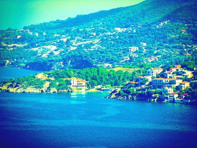 Sea Shades Of Blue Endless Blue Village Houses Highlights From Aerial Shot A Moment Of Zen... Tranquility No People Summer Holidays The Best From Holiday POV Vathi Samos Island Summer Memories 🌄 Landscapes With WhiteWall Blue Wave The Great Outdoors - 2017 EyeEm Awards Greek Islands The Architect - 2017 EyeEm Awards Live For The Story