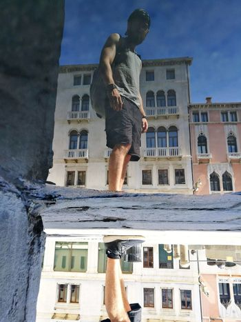 Architecture Outdoors Travel Destinations Adults Only Water Reflection Upisdown Upside Down Venice, Italy Photo Blue Sky Mirror Next To Water