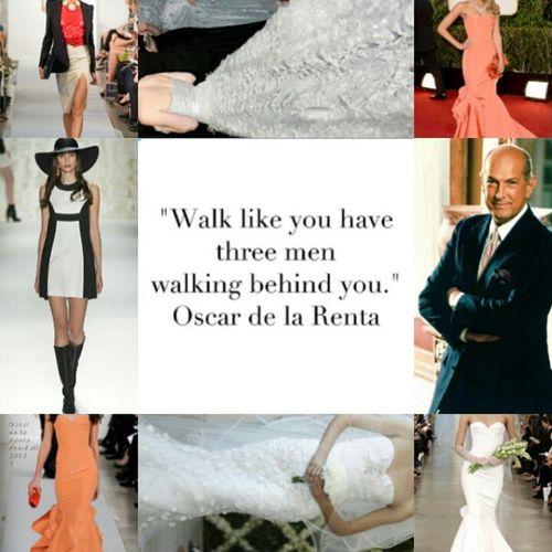 October 20, 2014, a travesty happen to the fashion industry when Oscar de la Renta passed away!!!! Oscardelarenta Fashionicon Sadmoment Rip Travesty