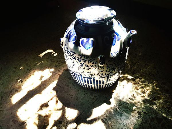 Shadow Sand Sunlight No People Teapot Blue Indoors  Day Close-up