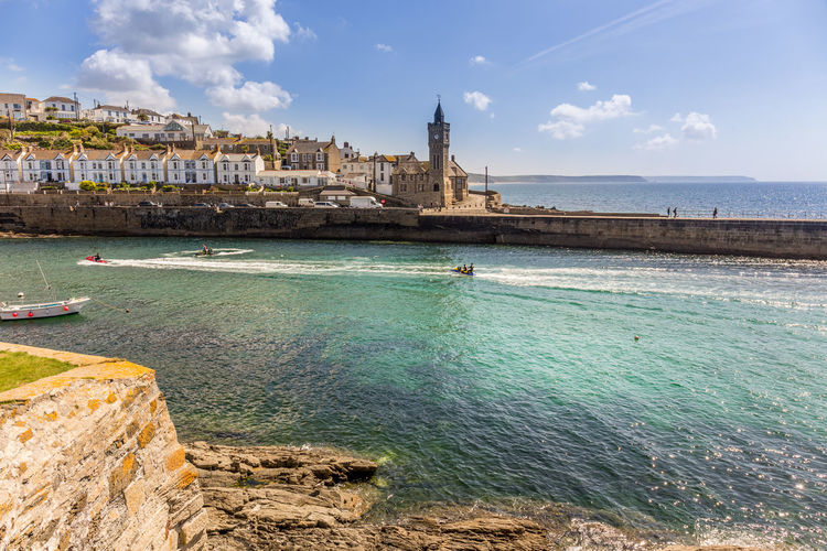 Architecture Beauty In Nature Building Exterior Built Structure Clock Tower Cloud - Sky Cornwall Cornwall Life Cornwall Tourism Cornwall, UK. Day Harbour View Kernow Nature Nautical Vessel No People Outdoors Place Of Worship Porthleven Scenics Sea Sky Spirituality Travel Destinations Water