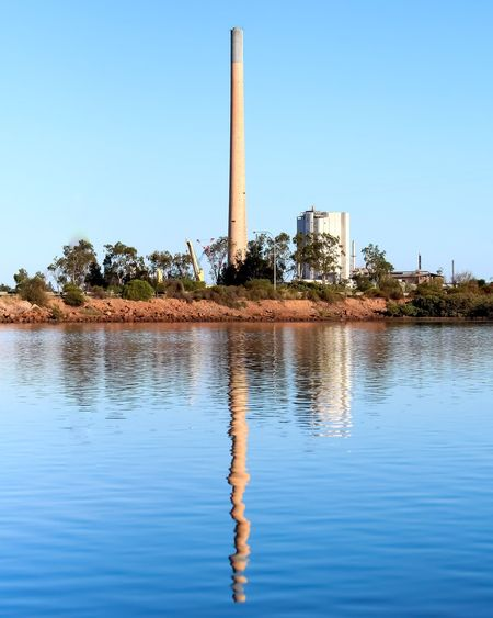 Smelters Water Tree Clear Sky Blue Reflection Sky