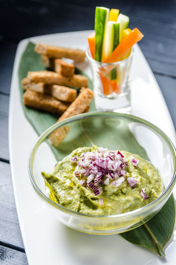 Food And Drink Herb Meal Temptation Bowl Food Foodphotography Fresh Freshness Garnish Guacamole Healthy Healthy Eating High Angle View Indoors  Indulgence No People Organic Plate Ready-to-eat Serving Size Snack Still Life Tabletop Yummy
