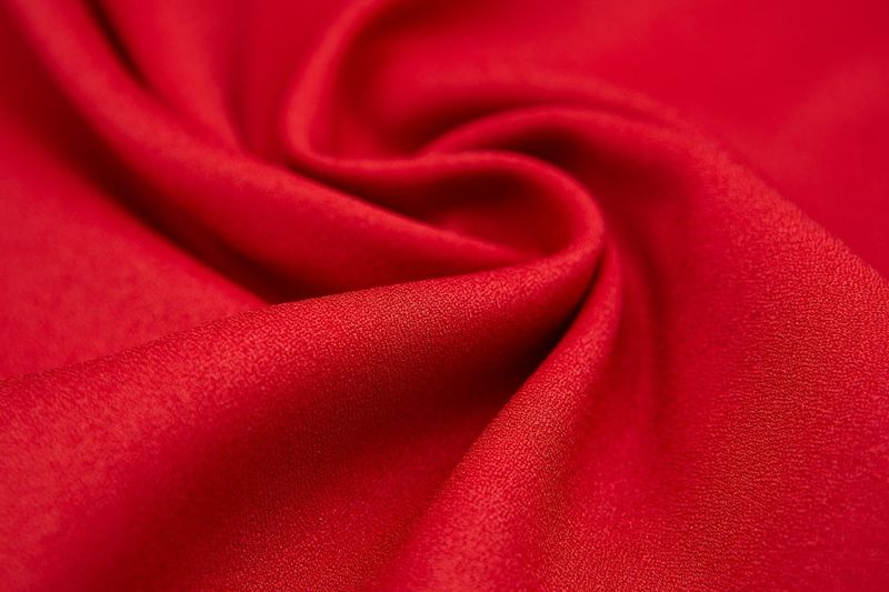 Silk Backgrounds Red Luxury Full Frame Textured  Smooth Textile Studio Shot Rippled