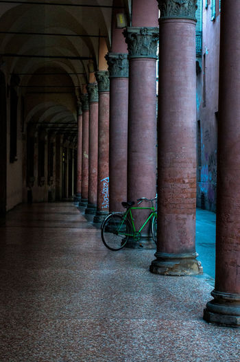 Colour Your Horizn Bologna Bologna, Italy Cityscape Fine Art Photography The Week On EyeEm Architectural Column Atmospheric Mood Bicycle Urbanphotography