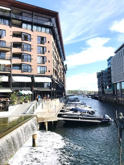 Traveling Travels Sea Bay Oslo Boat Water Architecture Built Structure Sky Building City Day Cloud - Sky Nature Water Incidental People Residential District Car Motor Vehicle Reflection Outdoors Transportation Sunlight Mode Of Transportation Canal Summer In The City