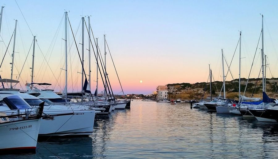 Mahon Sunset Water Nautical Vessel Outdoors Sea Sky Sailboat Nature No People City Beauty In Nature Refraction Yacht Day Harbour View Yachting Harbour Evening Harbour & Ships Harboursunset Minorca Island Mahon, Menorca Sunsetlover Sunset Colors