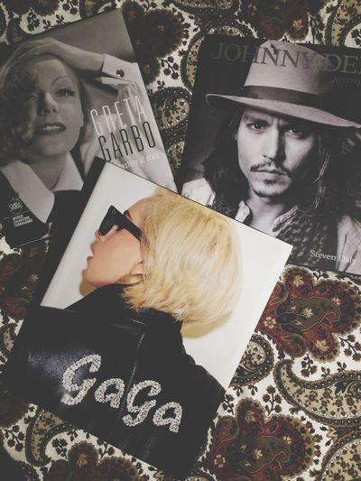 Three inspiring people Johnny Depp Lady Gaga Greta Garbo