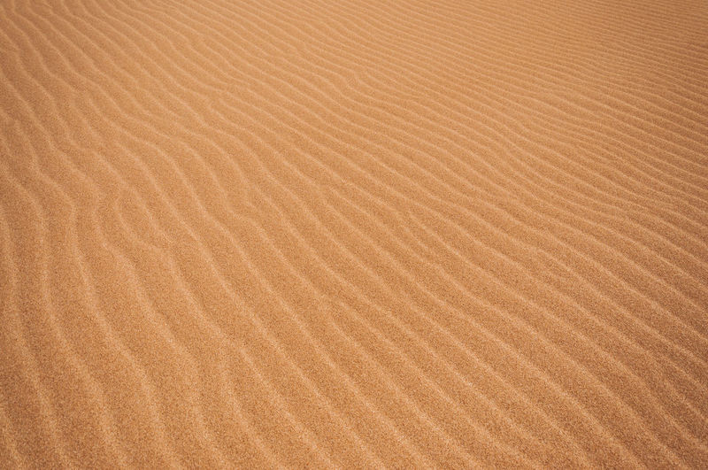 Interesting ripple pattern in desert sand America Arid Colombia Countryside Desolate Drought Dry Earth Environment Ground Guajira Heat Horizon Hot Isolated Land Nature Nobody Outdoors Rural Sand Scene Scenic South Waterless