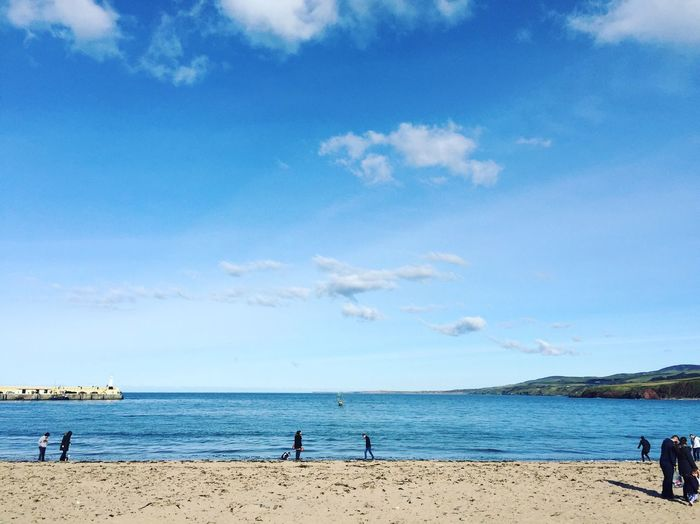 Scenic View Of Sea Against Sky At Peel