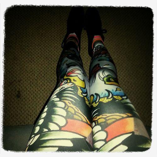 These pants tho Colorful Ed Hardy Ed Hardy Skulls Leggings