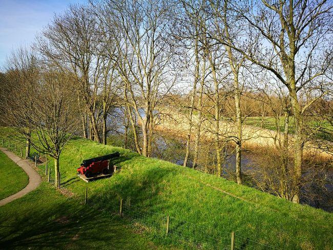 Outdoors Nature Day Scenics Landscape Nature Defense Last Line Of Defence Canon Green Color Rustic Old-fashioned Bastion Dutch Landscape Dutch Countyside Dutch Landscapes Dutch