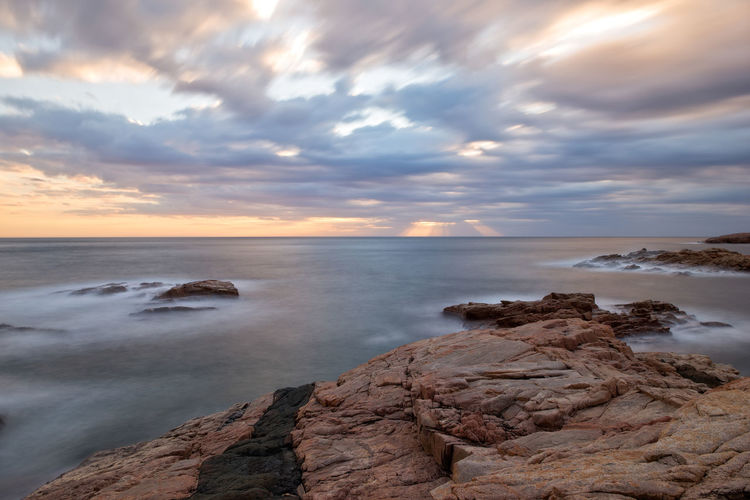 Costa Brava Girona Beauty In Nature Cloud - Sky Day Horizon Over Water Nature No People Outdoors Scenics Sea Sky Sunset Tranquil Scene Tranquility Water