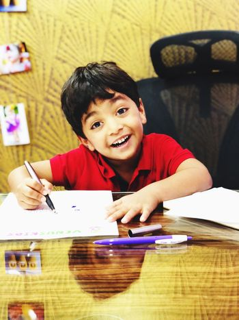 Boys Child Childhood Smiling Elementary Age Happiness Portrait Indoors