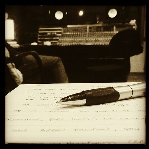 Writing songs in the studio! Studio Songwriter Music Fromtheheart Lyrical
