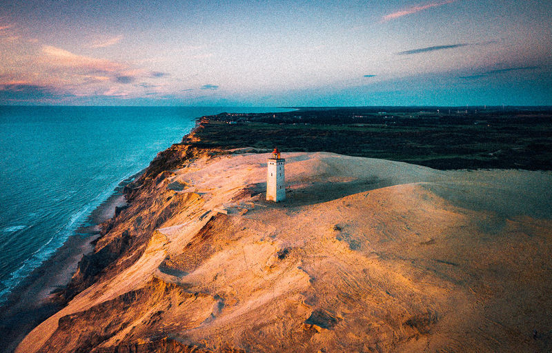 Denmark Dramatic Sky Lighthouse VSCO Architecture Beach Beauty In Nature Blue Cloud - Sky Coast Day Horizon Horizon Over Water Idyllic Land Nature No People Non-urban Scene Scenics - Nature Sea Sky Tranquil Scene Tranquility Water