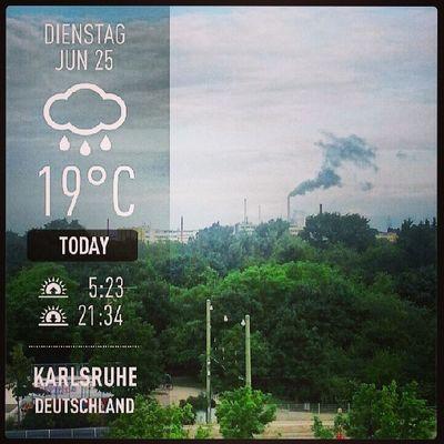 Good morning good working Weather Instaweather Instaweatherpro Androidonly androidnesia instagood Karlsruhe Deutschland