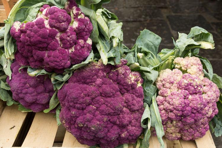 Close-Up Of Purple Cauliflowers
