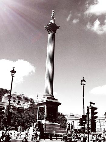 Hello World , Love ♥, LONDON❤ Black And White , Sunlight Nelson's Column
