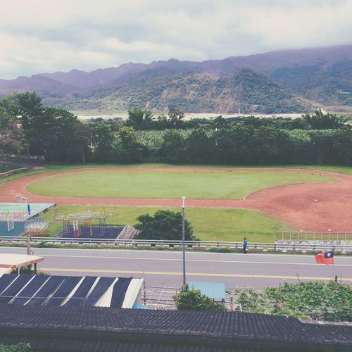 Day Field Garageimg Green Color High Angle View No People Outdoors School Taiwan Simple School ✌ Cute