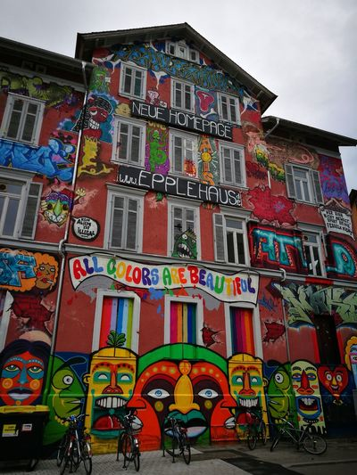 EyeEm Diversity Multi Colored Low Angle View Outdoors Architecture Travel Destinations Building Exterior Politics And Government The Way Forward Alley Art Embrace Urban Life Embraceurbanlife Cityscape City All Colors Are Beautiful All Coloures Beautiful All Colours Are Beautiful People People Tübingen Tübingen Germany Deutschland The Architect - 2017 EyeEm Awards